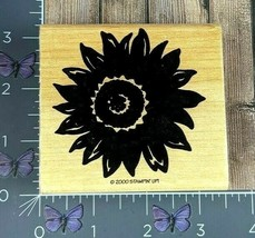 Stampin' Up! Sunflower Flower Rubber Stamp 2000 Wood Mount #AB23 - $3.47