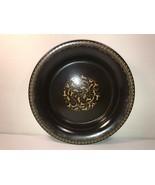 "Franciscan Ware Jamoca Brown 9"" Pie Plate Earthenware Brown Gold Decor - $14.84"