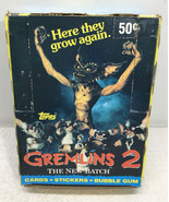 Gremlins 2 The New Batch Cards 34 Pack Box - Topps 1990 - $43.54