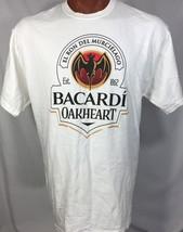BACARDI OAKHEART EL RON DEL MURCIELAGO GRAPHIC TEE WHITE 100% COTTON XL - £8.87 GBP