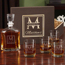 Oakhill Decanter Set with Wooden Gift Box - $149.95