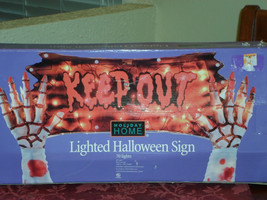 Halloween Lighted Keep Out Sign   - $25.51 CAD