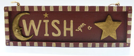 "KURT S. ADLER VINTAGE 90s FOLK ART ""WISH UPON A STAR"" PLAQUE CHRISTMAS D... - $14.88"
