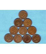 Ten Year Run Indian Head Pennies 1880-1889 US M... - $30.00