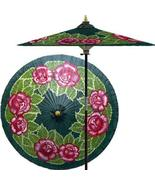 Summer Roses (Forest Green) Outdoor Patio Umbrellas - $199.95