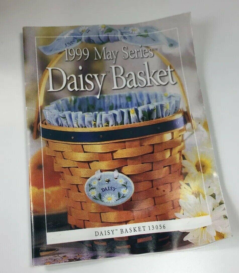 Longaberger Daisy Basket Blue Floral Fabric Insert Plastic Liner Protector 1999
