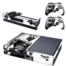 Batman Arkham Xbox One Console SKIN + 2x Controller Stickers Decal FaceP... - $11.11