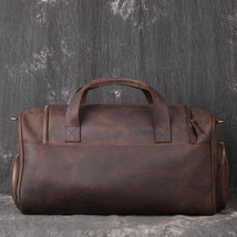 On Sale, Full Grain Leather Gym Bag, Vintage Travel Bag, Duffel Bag image 2