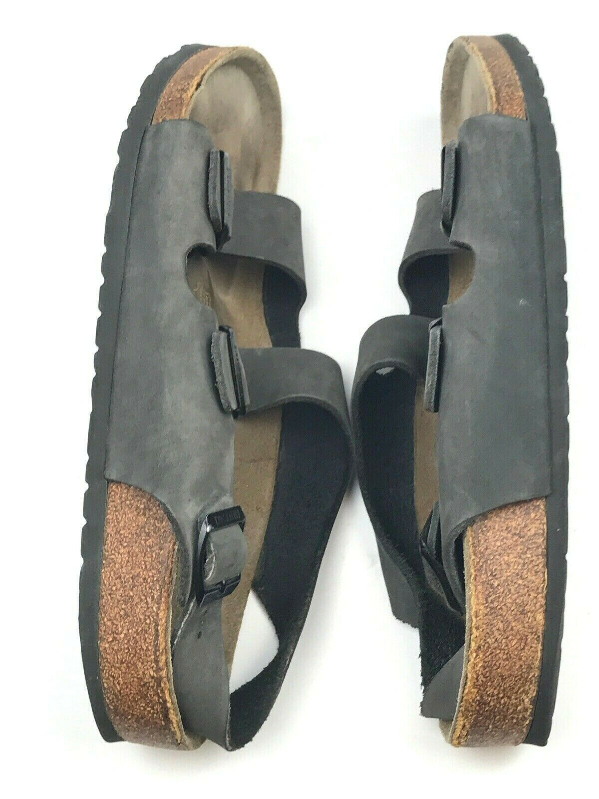 Birkenstock MILANO Gray Suede 2 Strap with Back Strap Sandals Size 44 EU or 11 M