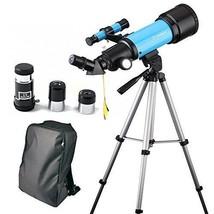 Telescope Travel Scope Portable 70mm Astronomical Refracter Tripod Kids ... - $52.42