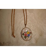 Pretty Enameled Locket Necklace - $18.00