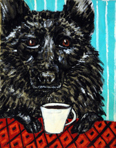 animal Art oil painting printed on canvas home decor SCHIPPERKE dog - $14.99+