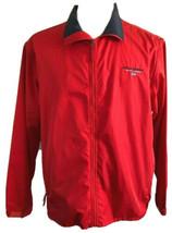 Polo Sport Ralph Lauren 90s Light Jacket Red Full Zip Windbreaker Sz XL - $45.53