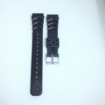 20MM Replacement Black Band Strap Rubber Wave Vent fits SEIKO DIVER Watch w/ pin - $10.39