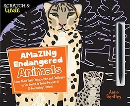 Scratch & Create: Amazing Endangered Animals: Learn About Their Characte... - $6.39