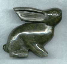 CARVED BC JADE BUNNY RABBIT - $17.00