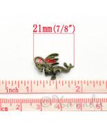 Dragon 21mm Wholesale Antiqued Bronze 3D Charm Pendants C4845 - 10, 20 o... - $12.00+