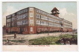 Plymton Press Norwood Massachusetts 1907c postcard - $6.93