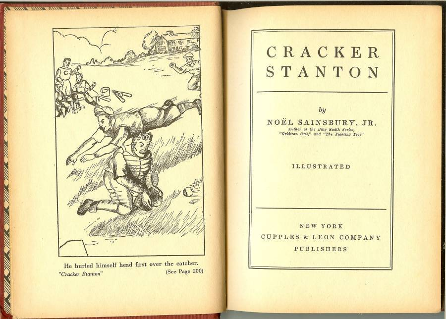 cracker stanton baseball book noel sainsbury jr 1934 first edition