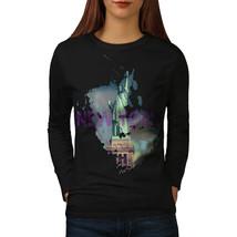 New York Liberty City USA Tee USA America Women Long Sleeve T-shirt - $14.99