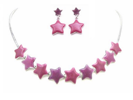 Primary image for Christmas Jewelry Star Charm Jewelry Beautiful Pink & Fuchsia Stars