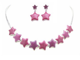 Christmas Jewelry Star Charm Jewelry Beautiful Pink & Fuchsia Stars - $18.58