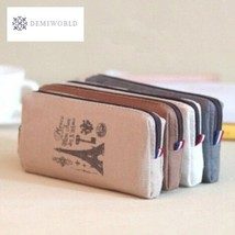 1PCS/Lot Retro towers linen pencil bag students Paris style pencil cases... - $4.00