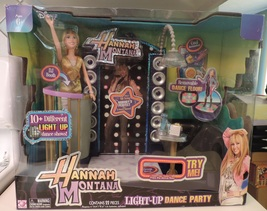 Disney Hannah Montana Light-Up Dance Party w/ doll, DJ booth and relaxing lounge - $40.00