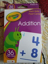 Crayola math skills flashcards ages 4 and up addition - $15.99