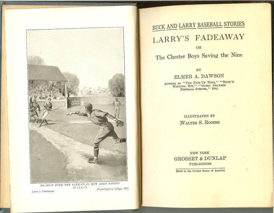 larrys fadeaway or the chester boys saving the nine elmer a dawson baseball book