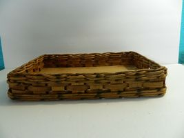 Vintage Pyrex Wicker Wood Long Casserole Dish Holder Cradle Fits 232 image 4