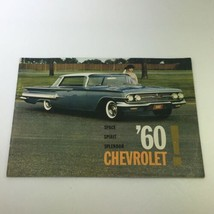 VTG 1960 Chevrolet Space Spirit Splendor Car Auto Brochure Catalog - $21.80