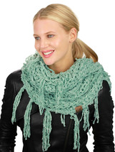 New! C.C Women's Soft Solid Chenille Net Fringed Tassel Infinity Wrap CC... - $16.99