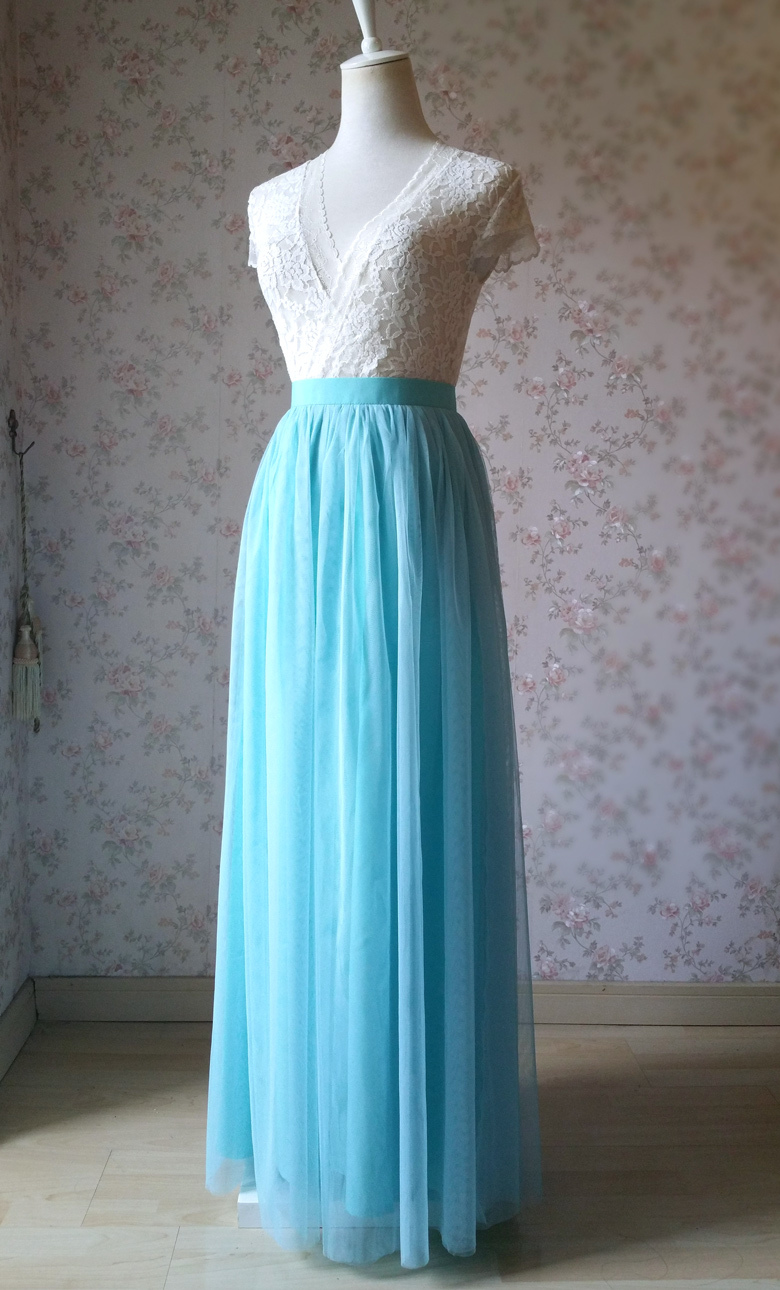 Full tulle skirt wedding blue 22 2
