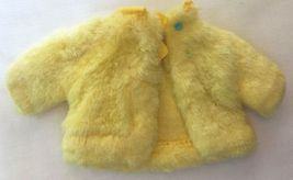 Vintage Barbie Skipper's Plush Bright Yellow Coat Sears Young Ideas  212-30 - $25.00