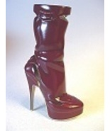 Wild Cherry Punch Spike Sleek Tall Boot Red Patent Leather Just the Righ... - $36.99