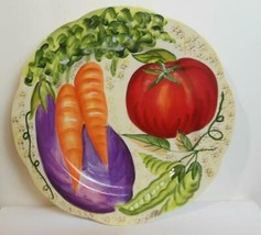New Fitz & Floyd La Marche Accent Salad Plate Cream Background - $15.00