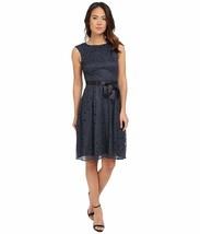 2600-00 Tahari Women's Sleeveless Metallic Overlay A-Line Dress (12, Bla... - $37.73