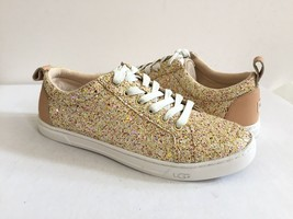 UGG KARINE CHUNKY GLITTER PINK MULTI LEATHER SNEAKERS US 10 / EU 41 / UK... - $91.63