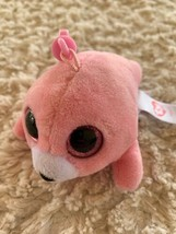 NEW Ty Beanie Boo Pink Seal Pierre Keychain Backpack Toy - $8.33