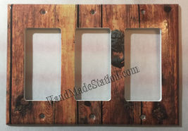 Rustic Barn Wood Door image Light Switch Outlet Wall Cover Plate Home Decor image 12