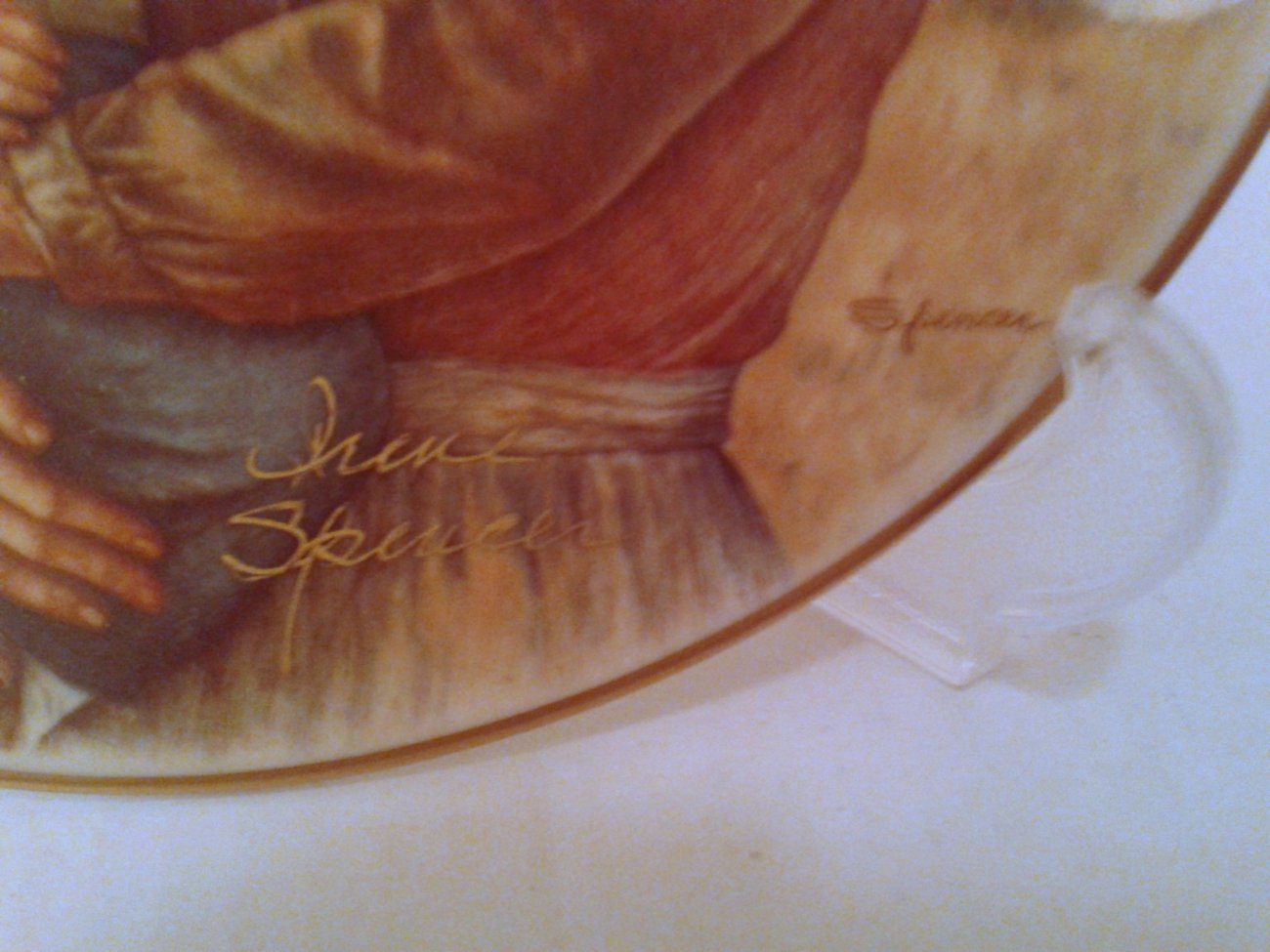 """""""Promises to Keep"""" ARTIST SIGNED Ltd Edition Collector Plate by Irene Spencer"""