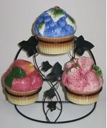 Jam Jar Condiment Set w/ Green Wire & Ivy Basket Stand - $15.00