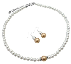 Inexpensive Pearl Jewelry with Silver Rondells Sparkle Like Diamond - $14.68