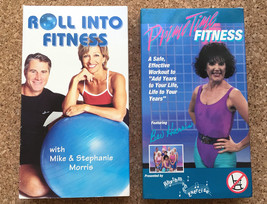 2 VHS Tape Lot: PRIME TIME FITNESS Bev Harris & ROLL INTO FITNESS Resist... - $16.78