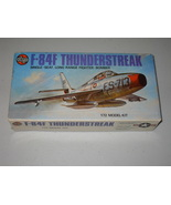 Vintage 1975 Airfix Republic F-84F Thunderstreak 1/72 Model 3022 - $24.99