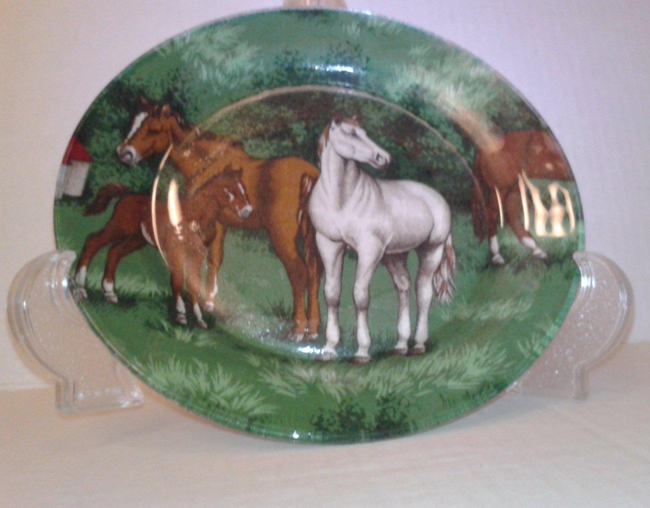 "Lovely Decoupage 7"" Horse Plate"