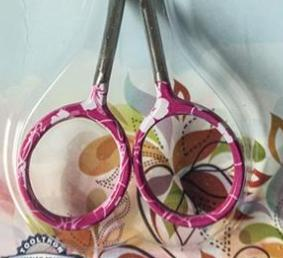 """Floral Pattern 4.75"""" small embroidery scissors Tooltron"""