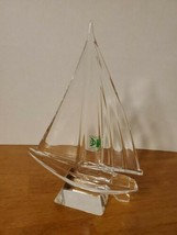 "KRISTAL COLOR 8.25"" CRYSTAL SAILBOAT FIGURINE PAPERWEIGHT - $39.95"