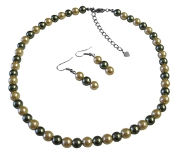 Sophisticate Pearls Pistachu & Daffodil Prom All Type Jewelry Set - $12.08